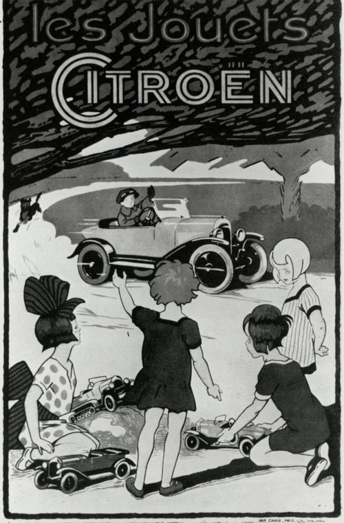 Ad for Citroën toys