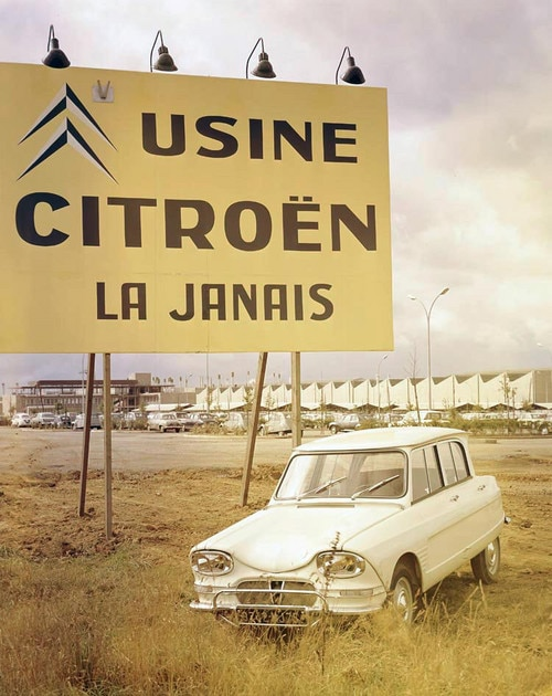 Sign at Citroën plant in Rennes