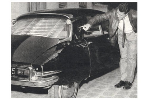 The Citroën DS after the attempt on the life of General de Gaulle