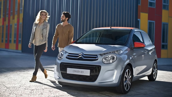 Citroen C1 grey and red