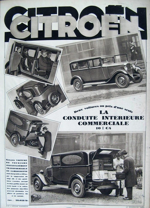 Advertisement for the new Citroën C4F